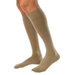BSN Jobst for Men Casual 20-30 mmHg Closed Toe Knee High Compression Socks,Khaki, X-Large, Full Calf,Pair,113129
