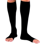 BSN Jobst for Men Open Toe Knee-High 30-40 mmHg Ribbed Compression Socks,Small,Pair,115452