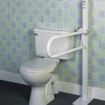 Homecraft Devon Floor-Mounted Folding Toilet Support Rail,Floor-Mounted,Each,AA2026