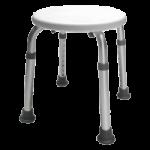 Graham-Field Lumex Round Bath Stool,White,2/Case,2060A