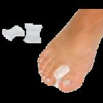 Silipos Antibacterial Gel Toe Spreaders,Small, 7/8″L x 1-1/16″W,4/Pack,6508