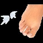 Silipos Antibacterial Gel Toe Separators,Large, 2″L x 1″W,15/Pack,6512