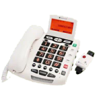 ClearSounds CSC600ER UltraClear Amplifying Emergency Connect Speakerphone,7.75″ x 7.5″ x 1.75″, White,Each,CS-CSC600ER