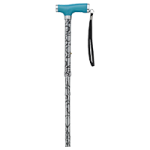 Drive Folding Canes with Silicone Gel Glow Grip Handle and Tip,Black Marble,Each,RTL10304TD