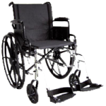 ITA-MED 16 Inch Lightweight Wheelchair with Height Adjustable Back WR16-300,16″ Wheelchair,Each,WR16-300