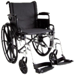 ITA-MED 16 Inch Lightweight Wheelchair with Height Adjustable Back WR16-400,16″ Wheelchair,Each,WR16-400