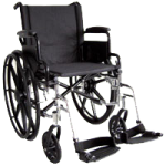 ITA-MED 18 Inch Lightweight Wheelchair with Height Adjustable Back WR18-300,18″ Lightweight Wheelchair,Each,WR18-300
