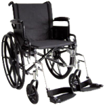 ITA-MED 20 Inch Lightweight Wheelchair with Height Adjustable Back WR20-300,20″ Lightweight Wheelchair,Each,WR20-300