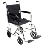 ITA-MED 19 Inch Aluminum Transport Wheelchair,Blue,Each,WTA19-100