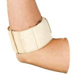AT Surgical Unisex Tennis Elbow Brace With Clip,White,Each,23-5