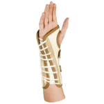 AT Surgical Unisex Lace Wrist Support,Large, 7.5″ to 8.5″, White Canvas, Left,Each,39-CL