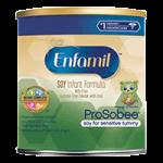Enfamil ProSobee Soy Formula for Sensitive Tummy,2fl oz, Ready to Use Plastic Nursette Bottle,48/Case,144901