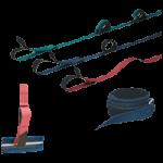 Humane Restraint Polypropylene Bed Restraint,L-400 Lock Buckle, Ankle, Bed Closure,Each,NBLAL-403
