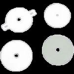 Torbot Hypalon Soft White Flat Faceplates,0.63″ Opening,Each,TSN2456
