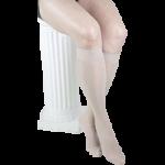 Gabrialla Sheer Knee High 18-20mmHg Medium Graduated Compression Stockings With Band,X-Large, Black,Pair,GH-160XLBL