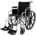 ITA-MED 18 Inch Premium Wheelchair,18″ Wheelchair,Each,W18-400