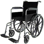 ITA-MED 18 Inch Standard Wheelchair with Powder Coated Frame,18″ Wheelchair,Each,W18-300E