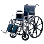 Medline Excel Narrow Wheelchair,Removable Full Length Arms, Swing Away Detachable Elevating Legrests,Each,MDS806300NFLA