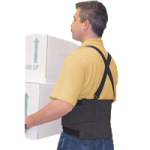 FLA Dynaback Occupational Back Support,Universal,Each,73-130UNBLK