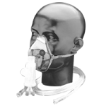 Salter I-Guard Elongated Aerosol Mask,Pediatric, Without Micro-Vented Ports (MVP), Valved,Each,1107-0