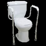 Drive Knock Down Toilet Safety Frame,White,Each,12001KD-1