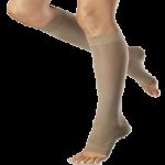 Venosan Ultraline Tactel Micro Fiber 20-30mmHg Below Knee Compression Stockings,X-Large, Open Toe, Beige,Pair,SG41004