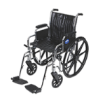 Medline 2000 Extra Wide Manual Wheelchair,With Removable Desk Length Arms and Swing Away Detachable Elevating Footrests,Each,MDS806450