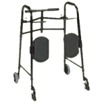 Tubular Fabricators The GRAND Line EasyRise Universal Double Button Folding Walker,Extra Wide,Each,2160-1
