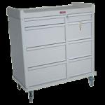 Harloff Standard Line Punch Card Cart with Key Lock,Beige,Each,SL602PC
