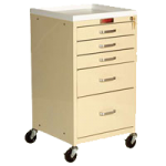 Harloff Four Drawer Mini Line Isolation Cart with Key Lock,Red,Each,3154K-RD