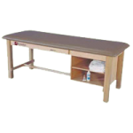 Armedica Maple Hardwood Treatment Table with Drawer and Adjustable Shelf,Dove Gray,Each,AM-608