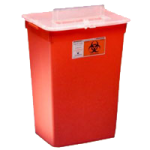 Covidien Kendall Sharps-A-Gator Large Volume Sharps Container,7.5 Gallon, Red, Round,6/Case,31143533