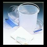 Medline Disposable Enema Bucket Set,1500cc Enema Bucket with Dynaclamp,Each/Pk, 6Pk/Box,DYND70104H