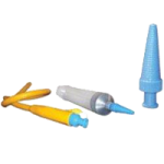 Addto Adapter For Catheter And Syringe,11/32″L (38mm), Overall Tapered Outer Diameter: 1/8″ to 3/8″ (3mm to 9.5mm),Each,2219