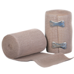 Medline Soft Wrap Elastic Bandages,4″ x 5yards, Stretched, Non-Sterile, Beige,10Each/Pack,MDS046004ZZ