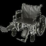 ITA-MED 24 Inch Extra Wide Wheelchair,24″ Wheelchair,Each,W24-300