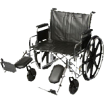 ITA-MED 24 Inch Extra Wide and Extra Strong Adult Wheelchair,24″ Wheelchair,Each,W24-400