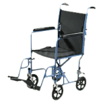 Drive Steel Transport Chair With Fixed Full Arms,19″,Each,TR39E-SV