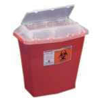 Covidien Kendall Sharps-A-Gator Tortuous Path Sharp Container,5 Quart, Translucent Red,30/Case,31144010