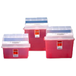 Covidien Kendall Gatorguard In-Patient Room Sharps Container,3 Gallon, Translucent Red,Each,31314886