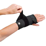 Rolyan Elastic Wrist Support with Tension Strap,Left, Large, MCP Width: 3.5″ to 4″ (8.9cm to 10.2cm),Each,A914LL