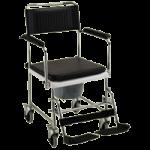 Nova Drop Arm Commode Transport Chair With Wheels,22.5″W x 23″D x 37.25″H,Each,8805