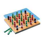 Depth Perception Pegboard Set,11″ square,Each,8182
