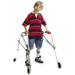 Kaye PostureRest Four Wheel Large Walker With Seat And Forearm Support Option,Each,W5CHR