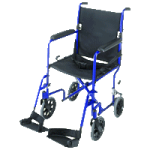 Mabis DMI 19 Inches Ultra Lightweight Aluminum Transport Chair,Titanium,Each,501-1052-4100