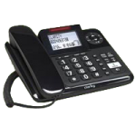 Plantronics Clarity Amplified Corded Phone with Digital Answering Machine,8-1/4″H x 6-3/4″W x 2-1/4D,Each,E814