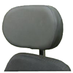 The Comfort Company Headrest With Stretch-Air Cover,Rigid, 6″L x 6″H,Each,HD-RS6W6T