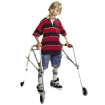 Kaye PostureRest Four Wheel Large Walker With Seat, Silent Rear Wheel And Forearm Support Option,Each,W5CHRX