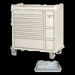 Harloff Standard Line 294 Capacity Unit Dose Box Cart,Red,Each,SL294BOX