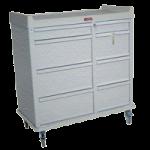 Harloff Optimal Line All Aluminum 600 Punch Card Cart with key lock,Light Blue,Each,AL602PC-LB